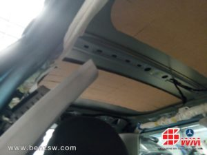 งานเปลี่ยนผ้าหลังคาที่ อู่เบนซ์ เอส ดับบลิว มอเตอร์ Mini Cooper R50 7
