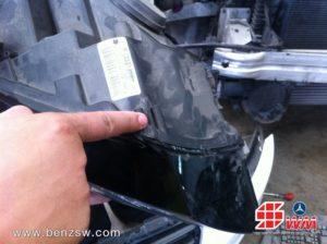 Audi A5 ขาไฟหัก