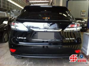 Lexus RX350 เคลมประกัน ไฟหน้า ภาพด้านหลัง