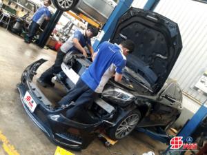 Benz S400 Hybrid 35 แก้ไข ซ่อมรถเบนซ์น้ำท่วม