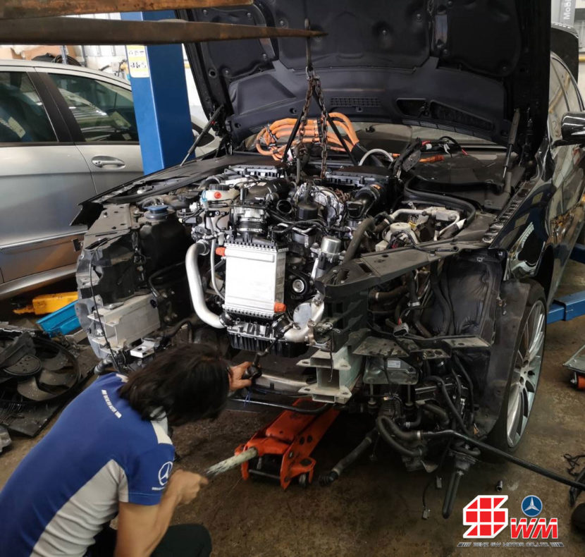 ซ่อมเบนซ์ เปลี่ยนเครื่องยนต์ Benz S400 hybrid 35ใหม่แท้ นำเข้าจากต่างประเทศ ซ่อมเร็ว ซ่อมจบ