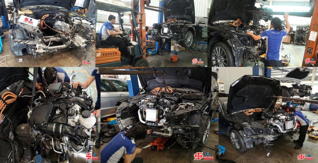 เปลี่ยนเครื่องยนต์ Benz S400 hybrid ใหม่แท้ นำเข้าจากต่างประเทศ