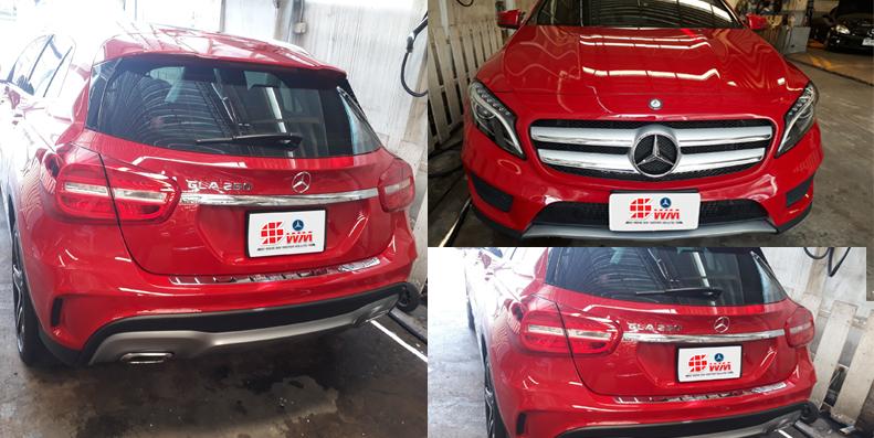 ผลงานซ่อมสีและตัวถังมาตราฐาน BENZ GLA 250 AMG