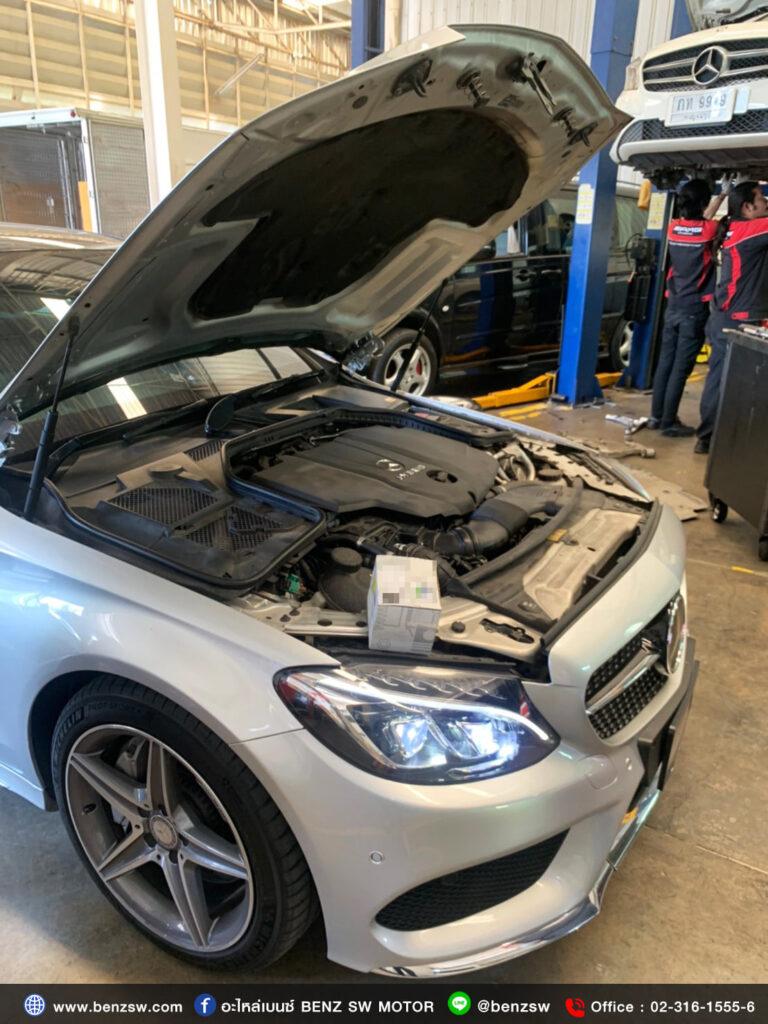 เซนเซอร์ Airmass เสีย !! Mercedes Benz C300 Bluetec Hybrid